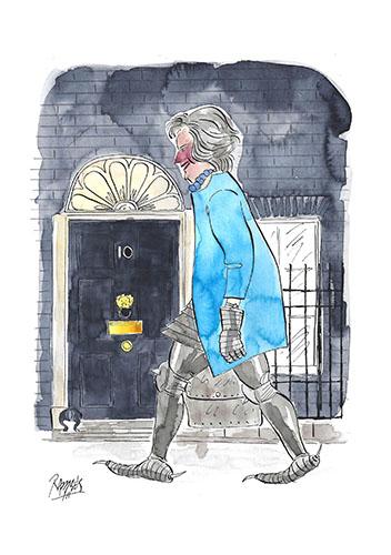 Theresa May at Ten Downey St