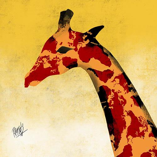 Giraffe in extinction