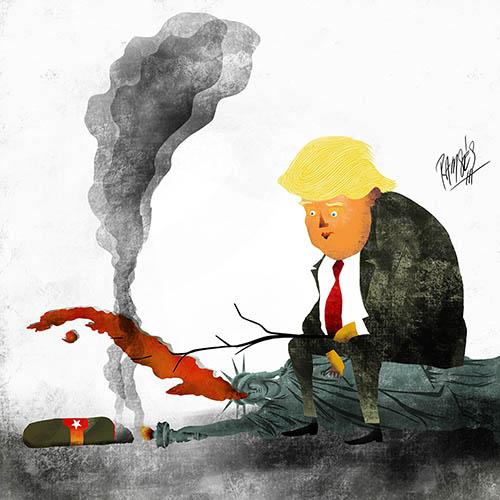 Trump's grill