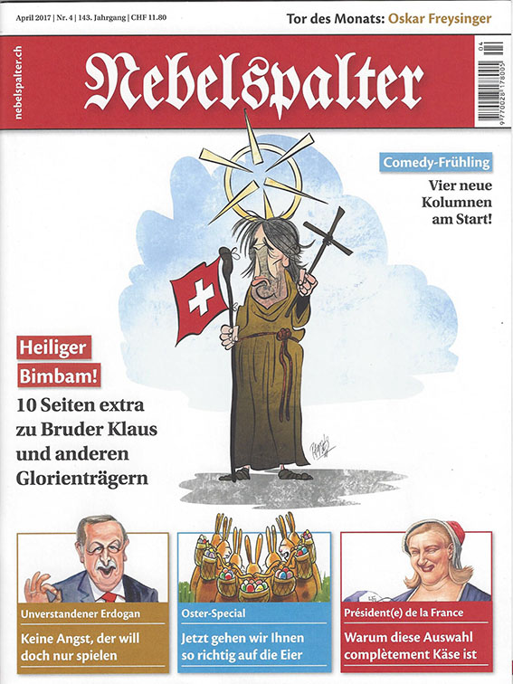 2017-04-Nebelspalter-Cover with Bruder Klaus