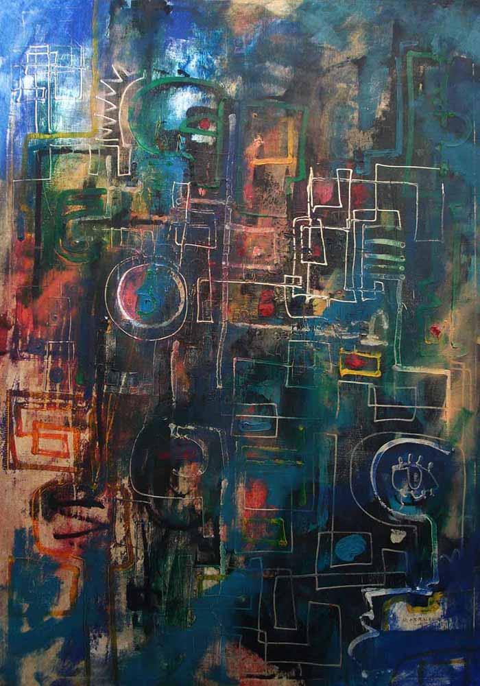 Abstracto azul 2 Ramses Morales