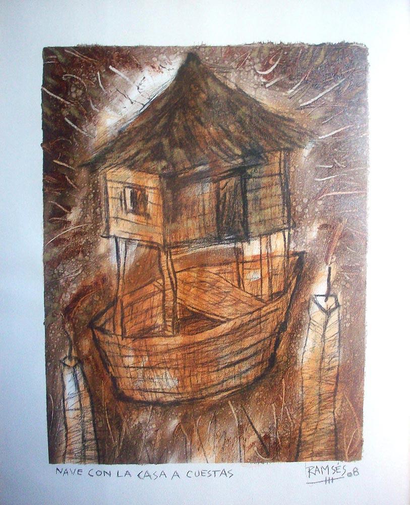 nave con la casa a cuestas Ramses Morales